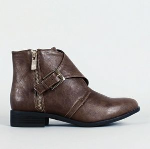 Bamboo Jassper-06 Leather Ankle Boots